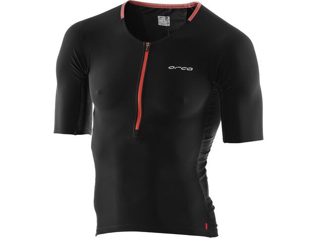 ORCA 226 Koszulka triathlonowa Mężczyźni, orange-black